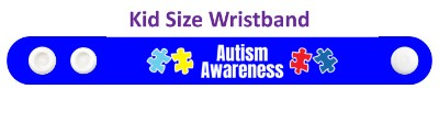 autism awareness blue puzzle wristband