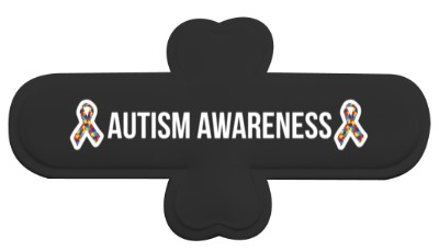 autism awareness puzzle awareness ribbon black phone stand