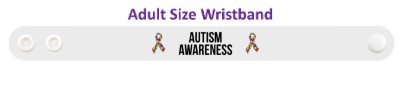 autism awareness ribbon puzzle white wristband