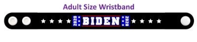 biden 2020 black eight white stars wristband