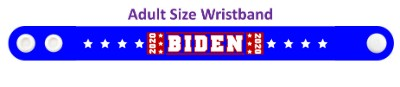 biden 2020 blue eight white stars wristband