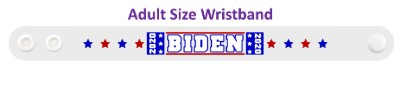 biden 2020 eight blue red stars white wristband