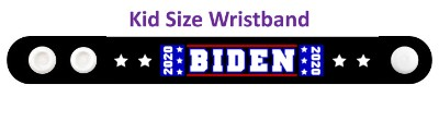 biden 2020 four stars white black wristband