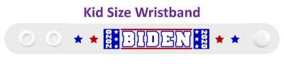 biden 2020 two stars blue red white wristband