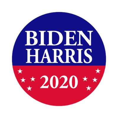 biden harris 2020 red blue stars sticker