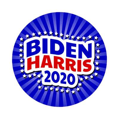biden harris 2020 wave stars rays blue sticker