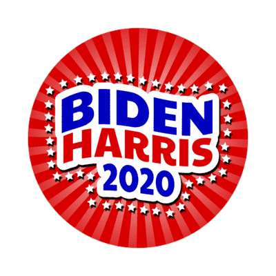biden harris 2020 wave stars rays red sticker