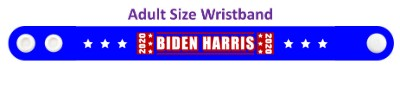 biden harris 2020n blue six white stars wristband