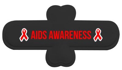 black aids awareness red hiv awareness ribbon phone stand