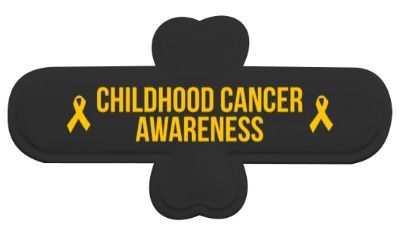 black childhood cancer awareness gold awareness ribbon phone stand