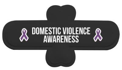 black domestic violence awareness purple awareness ribbon phone stand