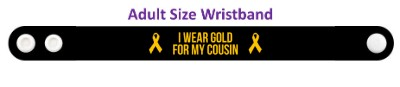 black i wear gold for my cousin childhood cancer awareness wristband