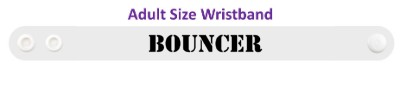 black stencil bouncer wristband