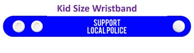 blue support local police wristband