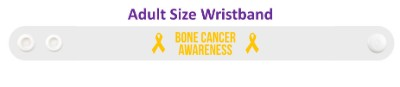 bone cancer awareness orange awareness ribbon wristband