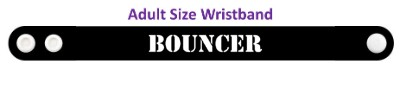 bouncer stencil black wristband