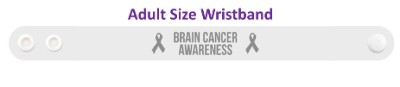 brain cancer awareness ribbon wristband