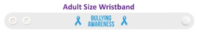 bullying awareness blue awareness ribbon wristband