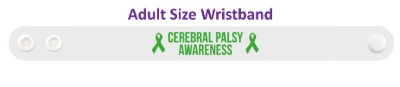 cerebral palsy awareness green awareness ribbon wristband