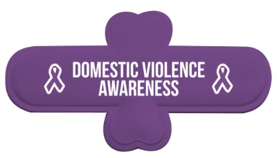 domestic violence awareness purple awareness ribbon white stickers, magnet