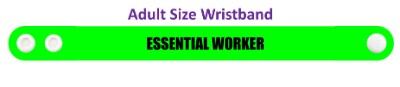 essential worker green wristband