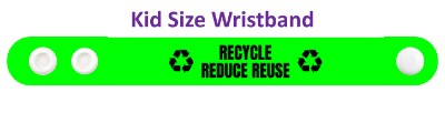 green symbol recycle reduce reuse wristband