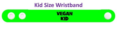 green vegan kid wristband