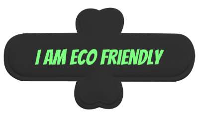 i am eco friendly stickers, magnet