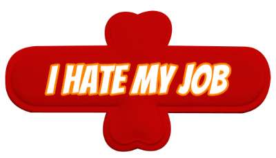 i hate my job novelty stickers, magnet