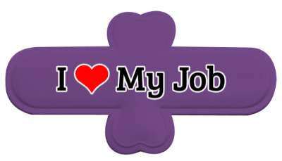 i heart my job love stickers, magnet