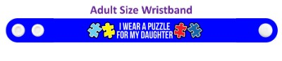 i wear a puzzle for my daughter autism awareness wristband