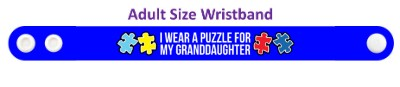 i wear a puzzle for my granddaughter autism awareness wristband