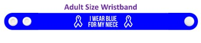 i wear blue for my niece colon cancer awareness wristband