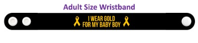 i wear gold for my baby boy childhood cancer awareness wristband