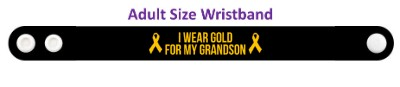 i wear gold for my grandson childhood cancer awareness wristband