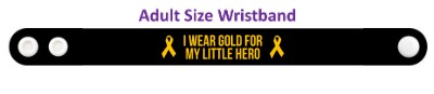 i wear gold for my little hero childhood cancer awareness wristband