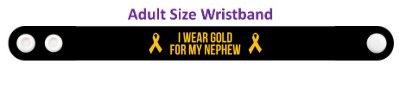 i wear gold for my nephew childhood cancer awareness wristband