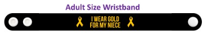 i wear gold for my niece childhood cancer awareness wristband