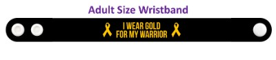 i wear gold for my warrior childhood cancer awareness wristband