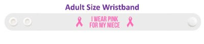 i wear pink for my niece breast cancer awareness wristband