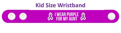 i wear purple for my aunt domestic violence ribbons awareness wristband