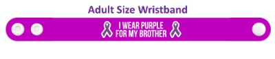i wear purple for my brother domestic violence ribbon awareness wristband