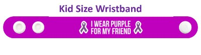 i wear purple for my friend alzheimers disease awareness ribbons wristband