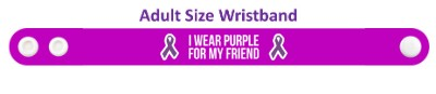 i wear purple for my friend domestic violence ribbons awareness wristband
