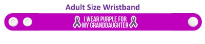 i wear purple for my granddaughter domestic violence awareness wristband