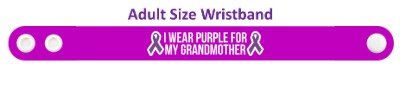 i wear purple for my grandmother domestic violence ribbon awareness wristba