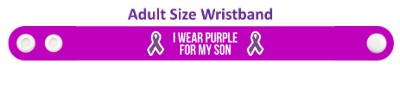 i wear purple for my son domestic violence awareness wristband