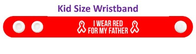 i wear red for my father aids hiv awareness ribbon wristband