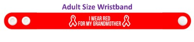 i wear red for my grandmother aids hiv awareness ribbon wristband