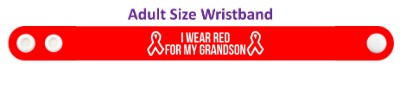 i wear red for my grandson aids hiv awareness wristband